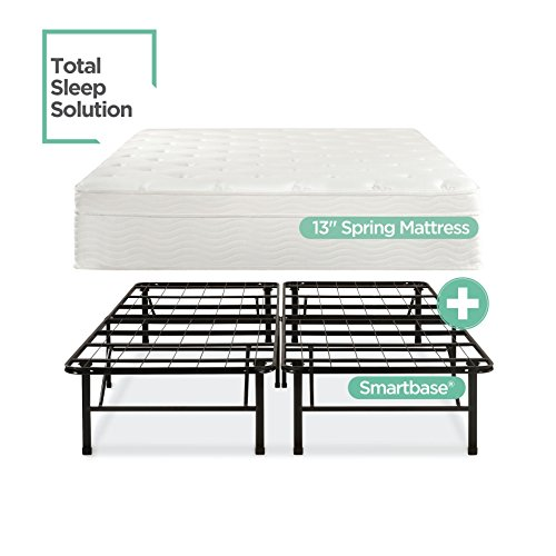 - Night Therapy 13 Inch Euro Top Spring Mattress & Bed Frame Set, Full