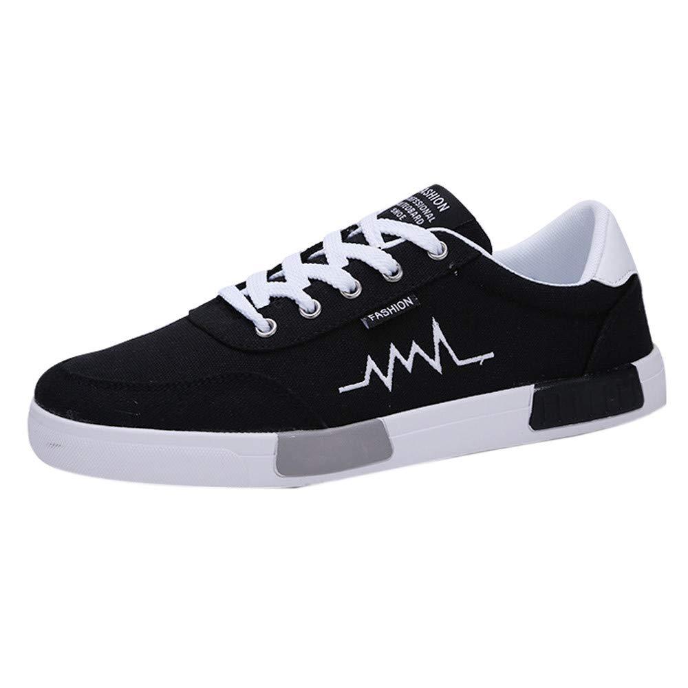Chaussures de Sport Homme Modaworld Chaussures de Toile Homme Poids léger Décontractée Chaussures de Sport Respirantes - Noir, Blanc, Gris, Rouge - EU 39-44