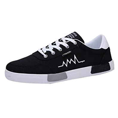 fa5fc3eb80f AIMEE7 Chaussure Toile Fashion Homme Pas Cher Ultra-Respirant Baskets Léger  Chaussures à Lacets Confortable Baskets