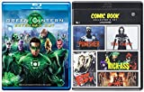 Green Lantern Comic Book Collector's Set The Punisher / The Crow / Kick Ass / Sin City / The Spirit Super Hero Movie Pack Blu Ray Movies