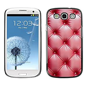 Cubierta de la caja de protección la piel dura para el SAMSUNG GALAXY S3 & I9300 - red leather wrinkle shiny
