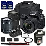 Canon EOS 80D DSLR Camera Bundle with Canon EF-S 18-55mm f/3.5-5.6 IS STM Lens + Canon EF 75-300mm f/4-5.6 III Lens + 2 PC 32 GB Memory Card + Camera Case + Flash + Power Grip