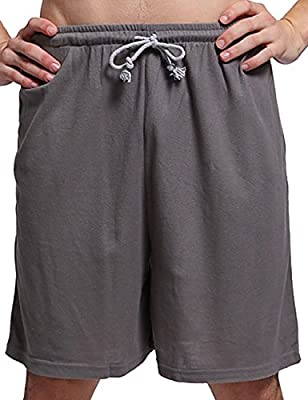 Godsen Boys' 2-Pack 100% Cotton Knit Sleep Shorts Pajama Bottoms