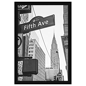 13x19 Black Poster Frame - Designed to Display Vertically or Horizontally on a Wall - Plexiglass Front