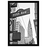 Americanflat 13x19 Black Poster Frame - Display Vertically on a Wall - Display Horizontally on a Wall - Plexiglass Front