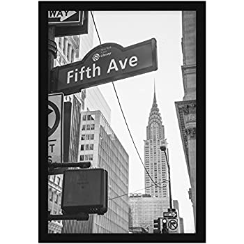13x20 Custom Made Thin Black Picture Poster Frame Solid Wood .75 ...