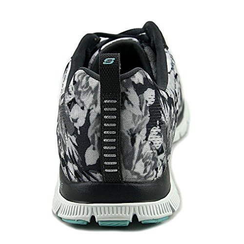 Skechers Flex Appeal Floral Bloom, Zapatillas de Deporte Exterior para Mujer Wildflowers/Charcoal/White