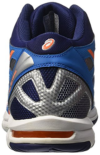 Asics - Zapatillas de volley Gel Beyond 4MT de Hombre Azul / Naranja / Azul Marino