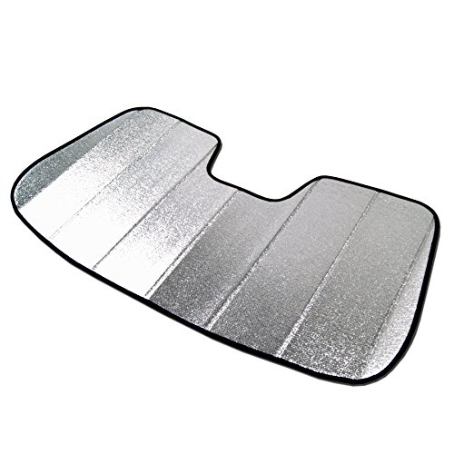 TuningPros SS-021 Custom Fit Car Windshield Sun Shade Protector, Sunshade Visor Silver & Grey 1-pc Set Compatible With 2014-2017 BMW 3-Series GT F34 ()