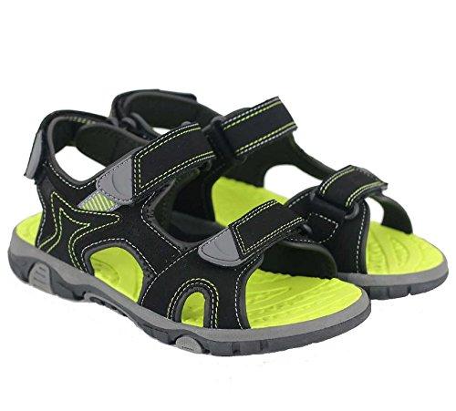 Khombu Boy's River Sandal Black / Neon Size 3 M US