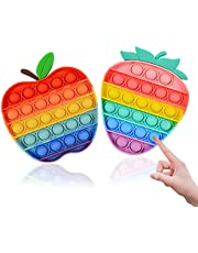 Vineco Fidget All Bubble Fun Sensory voor kinderen en volwassenen,stressverminderend speelgoed, ontworpen voor kinderen met autism, speciale behoeften en angsty, 2 stuks, kleurrijk