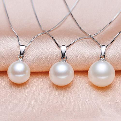 3pcs Fashion Women's Natural 14MM White Shell Pearl Pendant Necklace Jewelry - 14mm White Shell Pearl Pendant