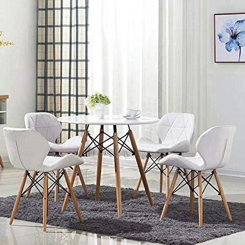 Noir LOVEMYHOUSE Ensemble de 4 Eiffel Millmead Inspir/é Chaise,La Cuisine Chaises Set 4,des Coussins Confortables Chaises De Bureau
