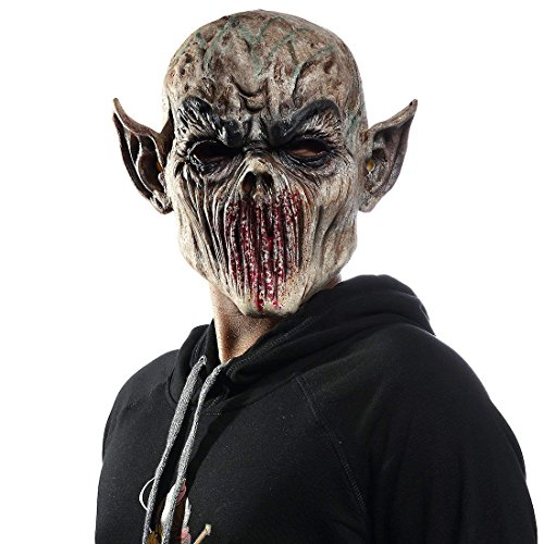 molezu Bloody Monster Mask, Horrific Alien Mask, Resident Evil Demon Mask for Halloween Props]()