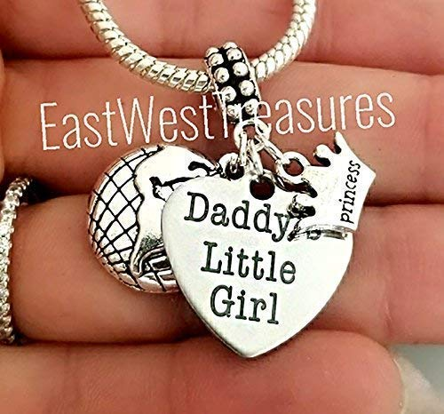 06723413a Image Unavailable. Image not available for. Color: Father Daughter daddys  little girl princess jewelry for her-charm bracelet and ...