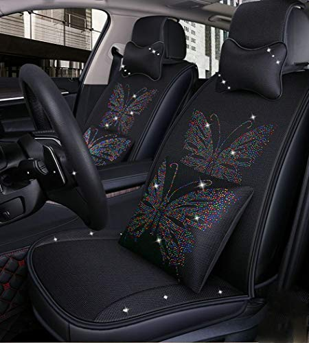 (Y&Jack Car Seat Cover 3D Breathable Belt Car Seat Cushion Four Seasons Universal Fashion Personality Pattern All-Inclusive Cushion Cover for Five Seat Cars,E)