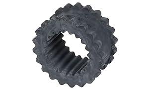 """Lovejoy 35572 Size 8JE Solid Design S-Flex Coupling Sleeve, EPDM Rubber, 5.06"""" OD, 2.5"""" Elastomer Length, 1135 in-lbs Nominal Torque"""