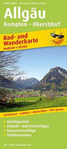 Allgäu, Kempten - Oberstdorf: Rad- und Wanderkarte mit Ausflugszielen, Einkehr- & Freizeittipps, wetterfest, reissfest, abwischbar, GPS-genau. 1:50000 (Rad- und Wanderkarte / RuWK)