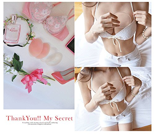 0d9b4d9d10 Silicone Breast Inserts - Waterproof Enhancers Bra Inserts A to D Cup for  Swimsuits   Bikini