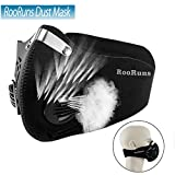 Dustproof Mask, Anti-Pollution Filtration of Exhaust PM2.5 Dust Mask with 2 Valves and Activated Carbon Filters, Face Mouth Cover Mask/Respirator Mask for Women Men Running Motorcycle Cycling Working