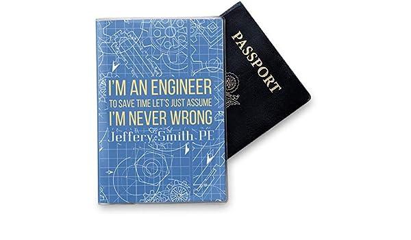 Personalized Engineer Quotes Vinyl Passport Holder