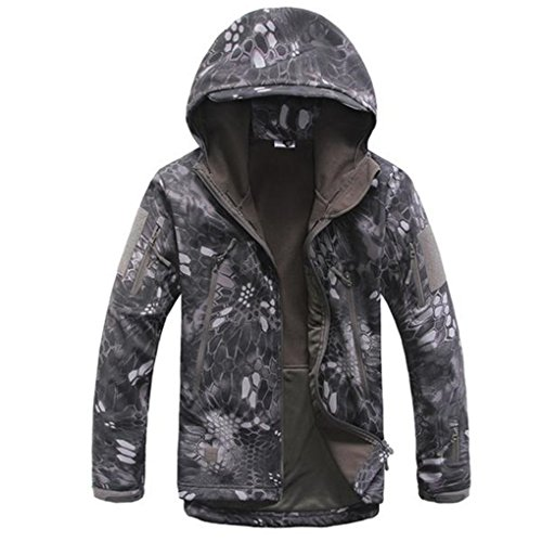 Shanghai Story Gear Military Special Ops Soft Shell Tactical Jacket 3XL typhon Black (Special Ops Vests)