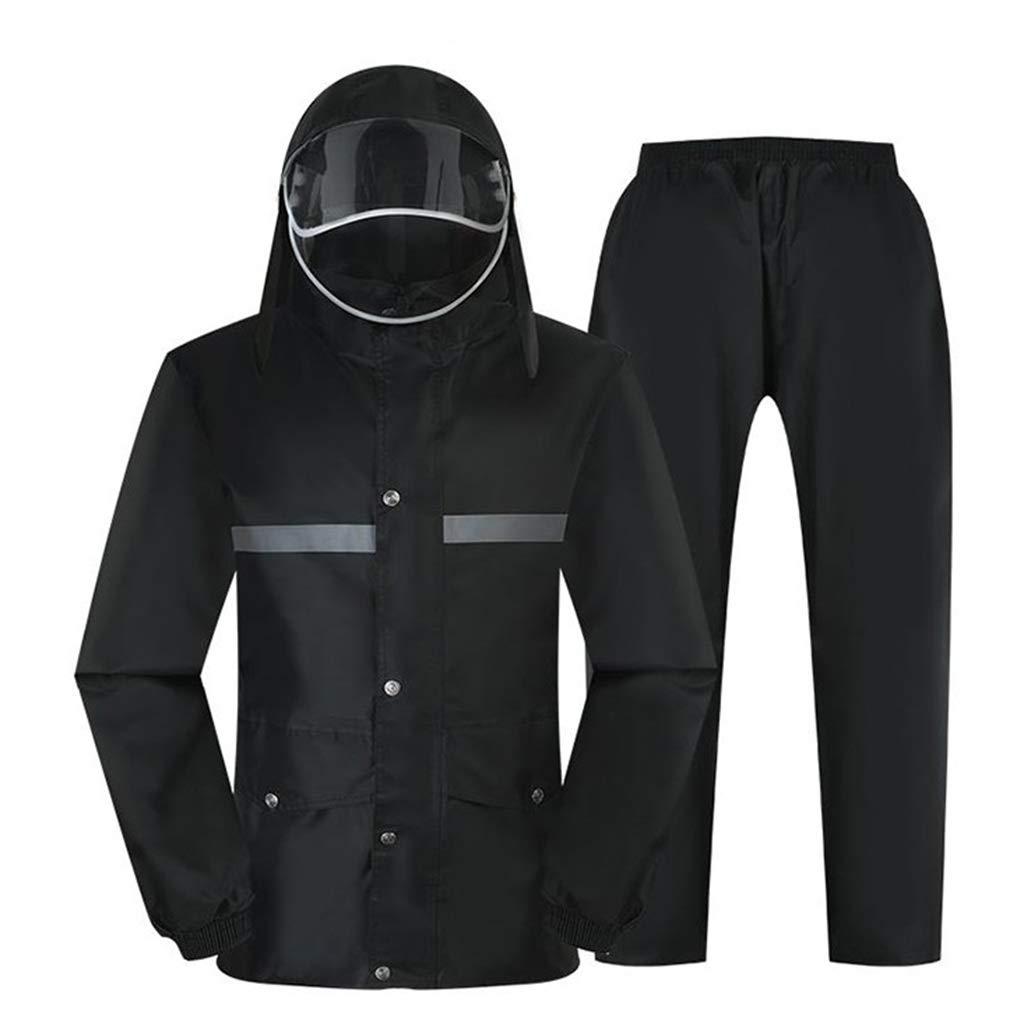 A 3XL VêteHommests de Pluie et Pantalons de Pluie Costume imperméable Costume de Pluie imperméable Moto Double Pont avec Split Eaves (Taille  M L XL   2XL   3XL   4XL) (Couleur   B, Taille   XL)