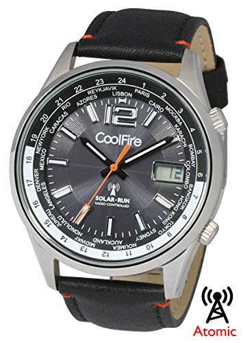 COOLFIRE l Solar Atomic Watch ! Military Solar Power Radio Controlled Watch (1531)
