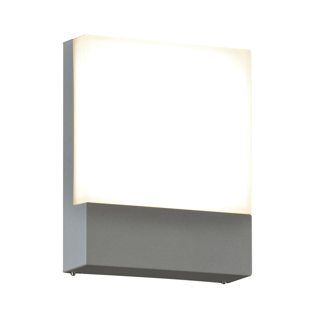 PLC Lighting 2126SL 1-Light Takato Collection Outdoor Fixture, Silver Finish by PLC Lighting