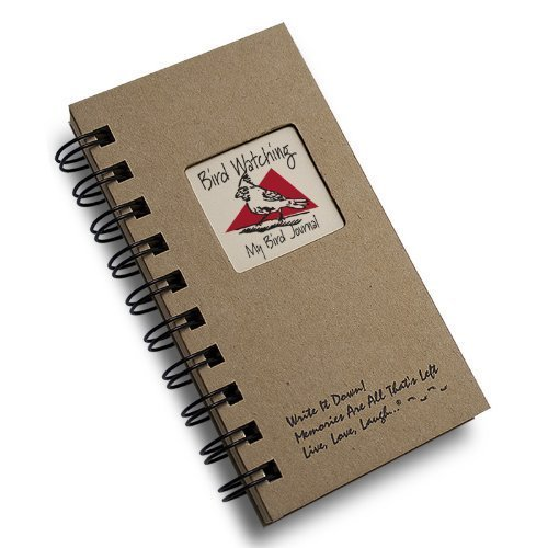1 X Bird Watching, My Bird Journal - MINI Natural Kraft Brown Hard Cover (prompts on every page, recycled paper, read more...)