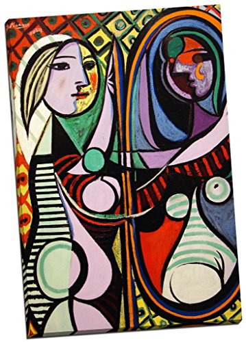 Panther Print Pablo Picasso Girl Before A Mirror Canvas Print Picture Wall Art Large 30X20 Inches