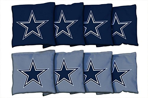 - Victory Tailgate Dallas Cowboys NFL Cornhole Game Bag Set (8 Bags Included, Corn-Filled)