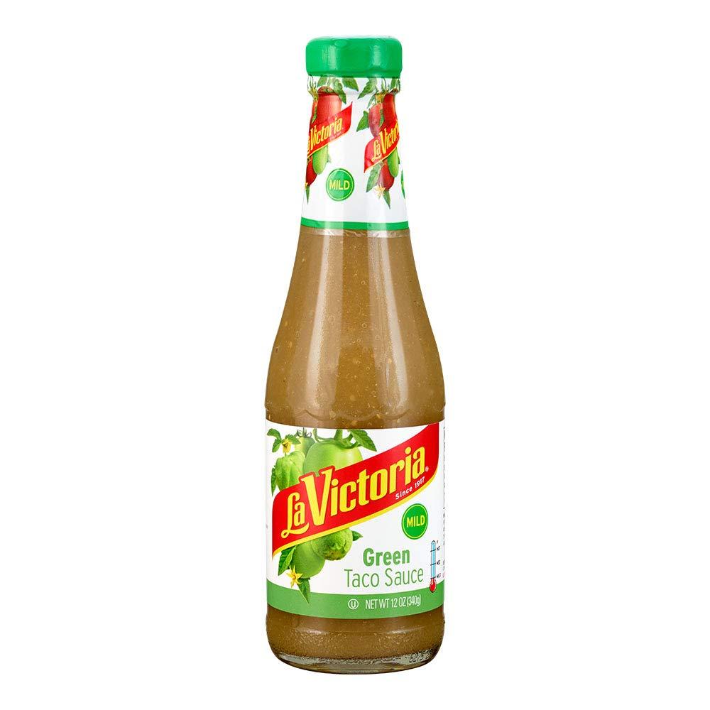La Victoria Green Taco Sauce Mild, 12 Ounce (Pack of 6) by La Victoria