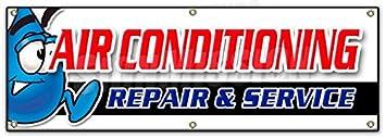 36x96 AC Repair /& Service Banner Sign HVAC air Conditioning estimates Finance