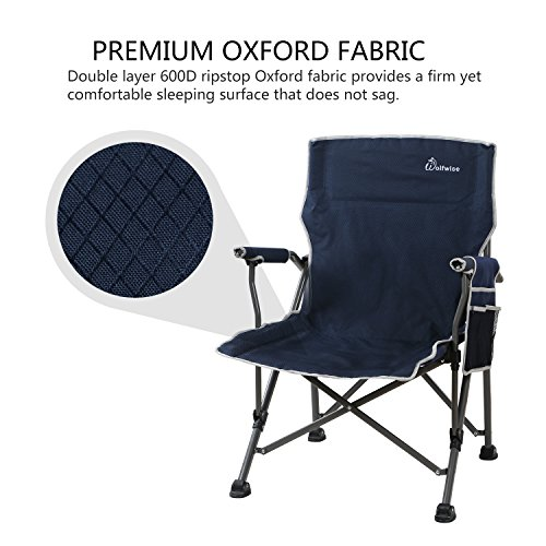 WolfWise Ultralight Portable Camping Chair Compact Folding Backpacking Lounge Chairs for Outdoor Picnic Beach Hiking Fishing with Carry Bag and Two Carabiner
