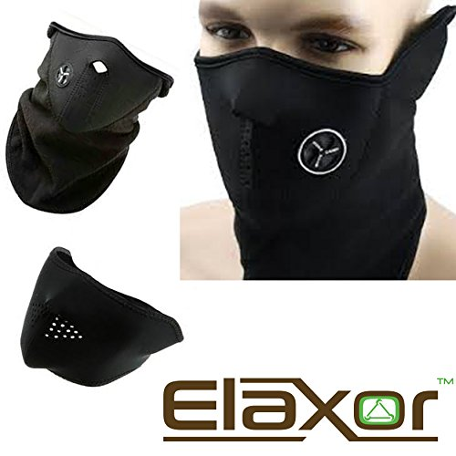Elaxor™ Unisex Dustproof & Windproof Ski Mask & Warm Neck - Half Face Mask for Paintball Bicycle Bike Motorcycle & All Out Door Sports Snowboard Skiing Hunting ()