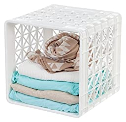 IRIS Stacking Crate, White
