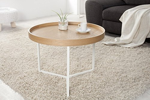 DuNord Design Mesa Auxiliar (Triton 60 cm Color Blanco Natural ...