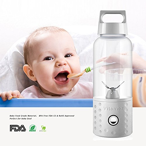 Ttlife Personal Blender Portable Blender Bottle Shakes And