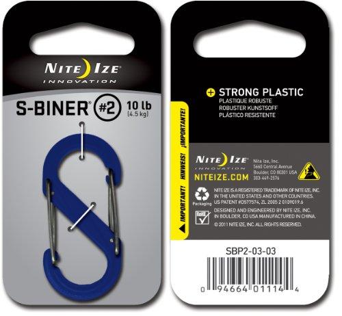 Nite Ize S-Biner Plastic Size #2 - Blue