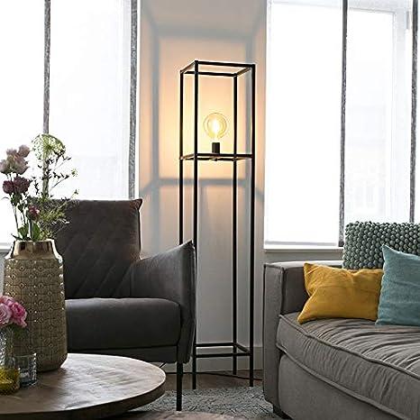 QAZQA Moderno Lámpara de pie moderna E27 negra 1-luz - BIG ...