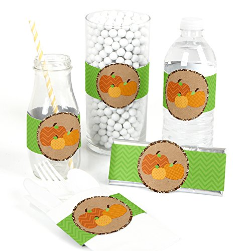 Pumpkin Patch - DIY Party Supplies - Fall & Thanksgiving Party DIY Wrapper Favors & Decorations - Set of 15 ()