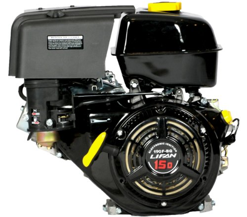 Lifan LF190F-BQ 15 HP 420cc 4-Stroke OHV Industrial Grade Gas Engine with Recoil Start and Universal Mounting Pattern ()