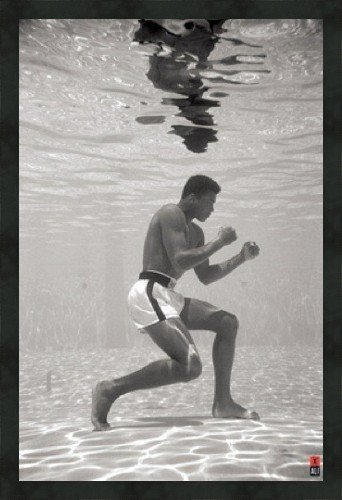 Muhammad Ali Training Underwater, photo by Schulke, framed print 38