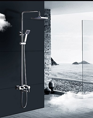 Junson Shower System, Full Copper Shower Faucet Thermostat Multifunction Booster Bathroom Shower