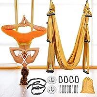 GJCrafts Aerial Yoga Swing, Aerial Yoga Hangmat Set, Karabijnhaak met gladde randen, Ultra Sterke Antigravity…