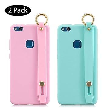 2 Pack] Funda Huawei P10 Lite Rosa Verde, Carcasa para ...