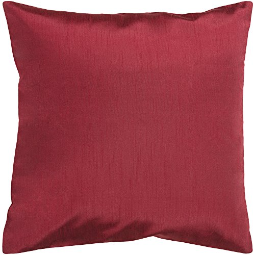 Surya HH-042 Hand Crafted 100% Polyester Dark Red 18