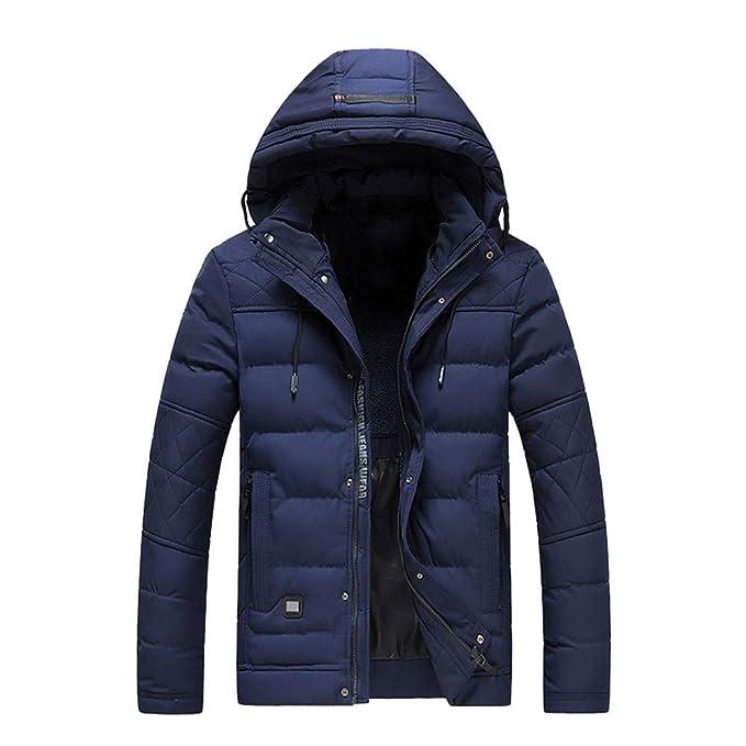 Con Zip Pile Tinta Cappuccio Uomo Cappotto Unita Inverno E In Corta Di Cotone Solido Caldo vNwm8n0O