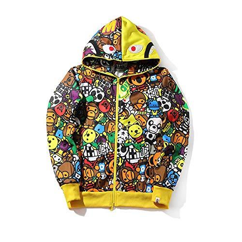 a906d4961b3 Fashion Hoodie ape Bathing Sweatshirt Baseball bape Sweater Outdoor Hip-Hop Coats  Jackets (Color1